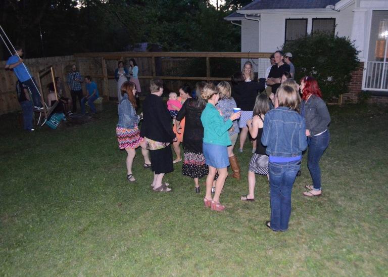 As, it started to get dark, the dancing began!