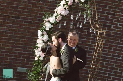 First kiss as Mr. & Mrs. Kimbro